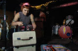 Tammy Ealom of Dressy Bessy unloads her gear before performing at the Larimer Lounge in Denver,...