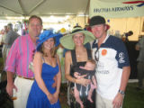 Denver Active 20-30 Denver Polo Classic 2005 - From left, Terry Sipes and Miranda Ericson join...