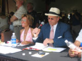 Active 20-30 Denver Polo Classic 2005 - Commentator Tamara Banks, left, and polo match...