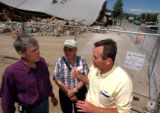 (GRANBY, CO., JUNE 7, 2004)(LT. TO RT.) Colorado Congressman Mark Udall, listened to Granby Mayor...