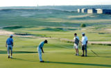 Westminster, CO July 11, 2005 Jason Kabat, Taylor Osieczanek Aaron Lopez and John Marshall putt in...