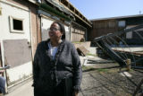 City Councilwoman Elbra Wedgeworth (cq) stands among the ruins of Dahlia Square at east 33rd...
