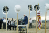 Arvada, CO Sept. 6, 2005 Al Meiklejohn addresses the crowd during the groundbreaking ceremony for...