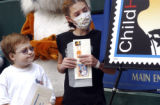 Children's Hospital patients Ethan Alderton (cq) 12, and Ashley Philbrook (cq) 11,attended the...
