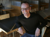JPM101 - Chipotle restaurant chain's founder and CEO Steve Ells at the company's downtown Denver...