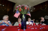 From left- Lauretta Randolph (cq), 82, Beatrice Porch (cq), 83, Eileen O'Connor (did not attend...