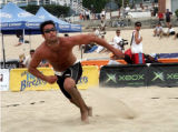 Derek Zimmerman, 30, is pictured in a volleyball tournament in Los Angeles last year. SPECIAL TO...