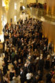 Opera enthusiasts wait in the lobby of the Ellie Caulkins Opera House before the opening...