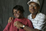 Eyes of the Hurricane portraits.  September 14, 2005.  Newlyweds Lionell and Betty Daggs (cq),...