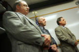 Members of a new investigative team, from left, Captain David Abrams, Denver Police Department,...