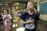 For the Ref C and D Project:  Shot on 9/20/2005 -   Rebeca Crabb's first grade class at Elbert...