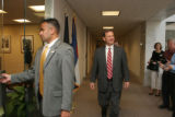 Federal Judge John G. Roberts Jr. walking towards Sen. Ken Salazar's D-Col. office. (SHNS photo by...