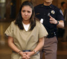 Terra Ramirez enters denver County court on Friday September 23,2005. Ramirez is charged in a...