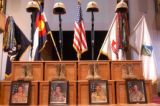 Memorial service at Fort Carson's Soldiers Memorial Chapel on Tuesday September 27,2005. The joint...