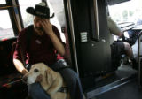 For the Ref C and D Project: Shot on September 9, 2005, in Denver  -  Riding the bus for a full...