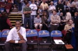 Minneapolis, Minn., Photo taken April 30, 2004- Nuggets rookie, Carmelo Anthony, showed up in...