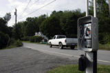 (NYT40) SOUTH ACKWORTH, N.H. -- Oct. 10, 2005 -- PAY-PHONE-LAWS-2  -- The pay phone in the dirt...