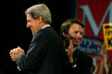 (DENVER, CO. JULY 23, 2004)  Presidential candidate John Kerry is introduced by John Edwards at...