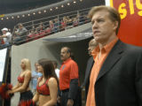 SPECIAL TO THE ROCKY MOUNTAIN NEWS-Colorado Crush owner John Elway watches their game against the...