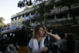 (1/16/05,Chennai, India)   Nanci Ricks tries to find their van to get back to the hotel before...
