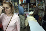 (1/16/05,Chennai, India)   Jet lag hits Dawn Anderson hard while shopping for local clothes with...