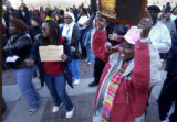 (Denver, Colo., 1/17/05- In celebration of Martin Luther King thousands march from City Park to...