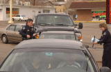 (LAKEWOOD, Colo., January 18, 2005) Division Chief Kevin Paletta, left of frame in uniform, male,...