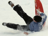 (STEAMBOAT SPRINGS Colo., January 17, 2005)  Kyle McMillan, from Ohio Ill., takes a spill while...