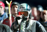 (SANTA CATERINA, Italy - Shot 2/4/2005) U.S. skiier and Vail native Lindsey C. Kildow can only...