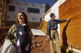 (Boulder, COLO. JANUARY 20, 2005)  HGTV DREAM HOUSE PROJECT.   Tina Herr, homeowner, left, holding...