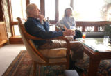 [Golden , CO - Shot on: 1/21/05] Bill Coors(left) and his wife Rita Bass Coors at thier home in...