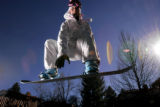 (ARVADA, Co. - Shot 1/20/2005) Burton sponsored rider Jessica Roy, 20, of Boulder wears some of...