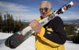 (WINTER PARK, Colo, February 7, 2005) -Jerry Groswold overlooks the Winter Park Ski Resort that he...