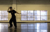 [DENVER, CO - Shot on: 1/21/05]  Miguel Castro rehearses at the Colorado Ballet studios in Denver...