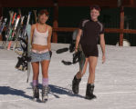(Arapahoe Basin Colo., January 20, 2005)  Miss Ren Renken and Davin Rockstad , left to right, ...