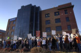"(Denver, Colo., 1/19/05- The 3November Movement holds a ""counter coronation rally"" in..."
