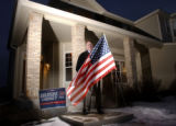 Arvada, Colo., photo taken February 7, 2005- Brad Dempsey,32, stands outside his Arvada home with...