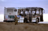 (ADAMS COUNTY, COLO., JANUARY 25, 2005) An RTD bus operated by private contractor First Transit...