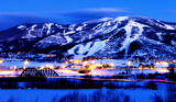 (STEAMBOAT SPRINGS Colo., January 17, 2005) VIEWFINDER -  This photo was shot after the sun went...