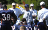(DOVE VALLEY, Co., SHOT 7/28/2004) Denver Broncos' head coach Mike Shanahan, in his tenth year...