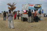 (1/15/05,Chennai, India)   Scenes from around Chennai, India.  The Titanic fast food cart on the...