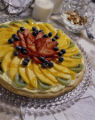 Cool Fruit Tart with Lemon Cream Cheese Filling.