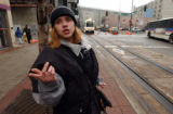 (DENVER, CO. JANUARY 30, 2004) Nicole White, 22, of Commerce City talks about witnessing the...