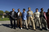 (Irvine, Calif., Jan. 29,2005) Ahmad Dizayee of Lakewood, Colorado, at left, and his Kurdish...