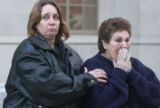 (LAMAR, Colo, January 31, 2005) Carmen Amaya (right) is mad and frustrated  as she walks out of...