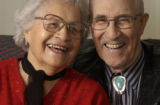 (Denver, COLO.  February 10, 2005) Ruben A. Salazar, 91, and his wife of 70 years, Emma Lucero de...