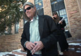 (Boulder, Colo., February 1, 2005) CU Professor Ward Churchill walks out of the Hellems Arts and...
