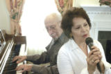 Denver, CO 02/01/05 Norma and Al Tell practice big-band tunes at the Apple Ridge Assisted Living...