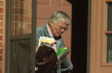 Aurora, Colo.2/17/05--Helen West, mother of Derrick West leaves her townhouse to visit her son a...