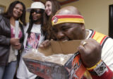 (DENVER, Colo., February 17, 2005) (left to right) background first, Blanche Means, Lil Jon and...